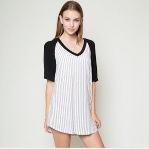 Brandy Melville baseball T-shirt dress one size